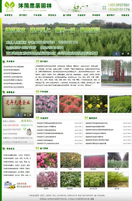 沭阳思辰园林-客户案例-沭阳网站建设